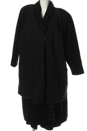 Dolce Vita bodenlanger Mantel schwarz Casual-Look