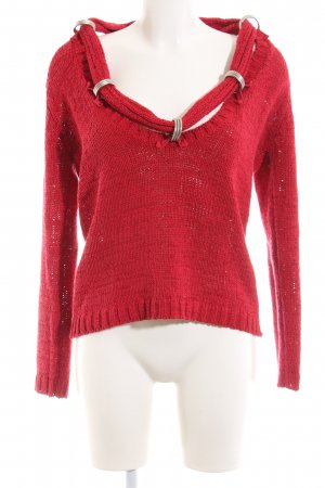 Dolce Vita Strickpullover rot Casual-Look