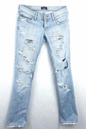 Dolce & Gabbana Jeans skinny bleu azur-bleuet coton