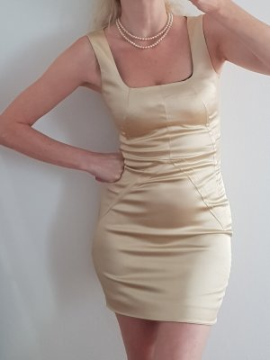 Dolche & Gabbana Minikleid Kleid Satin nude 34
