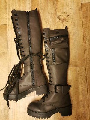 Aanrijg laarzen zwart Leer