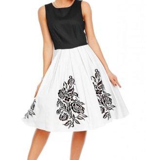 Dolly and Dotty Petticoat Dress white-black