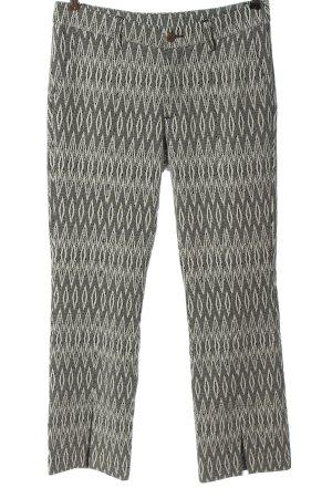 dolores Pantalon en jersey noir-blanc motif graphique style décontracté