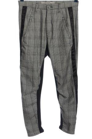 dolores Pantalon en jersey noir-blanc motif à carreaux style décontracté