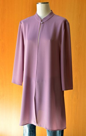 DOMA Tunika Longbluse uzun blus Longweste Kleid Jacke 42/L Flieder Lila Anlasskleid Vintage