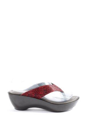Donald J. Pliner Sandalo toe-post rosso-nero stampa integrale stile casual