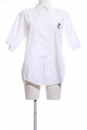 Donaldson Short Sleeve Shirt white themed print casual look