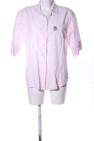 Donaldson Kurzarmhemd pink-weiß Karomuster Business-Look