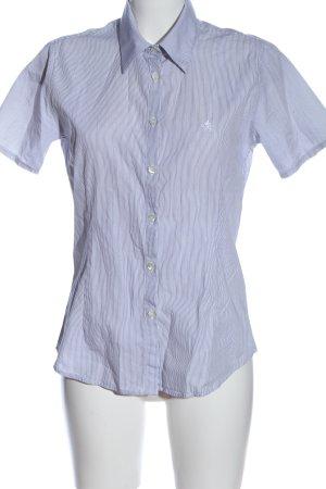 Donaldson Kurzarmhemd weiß-blau Allover-Druck Casual-Look