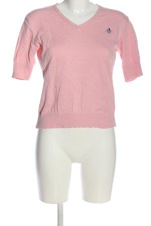 Donaldson Kurzarmpullover pink Motivdruck Casual-Look