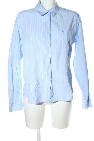 Donaldson Langarmhemd blau-weiß Allover-Druck Business-Look
