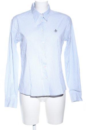 Donaldson Langarmhemd blau-weiß Streifenmuster Business-Look