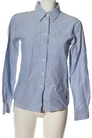 Donaldson Langarmhemd blau-weiß Streifenmuster Casual-Look