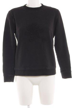 Donaldson Sweatshirt schwarz Motivdruck Casual-Look