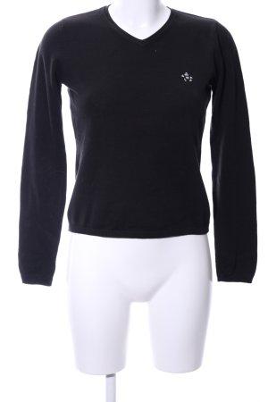 Donaldson V-Ausschnitt-Pullover schwarz Business-Look