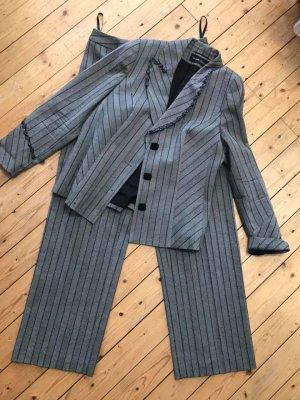 Tailleur pantalone argento-nero