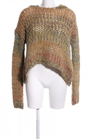 Dondup Crochet Sweater brown casual look