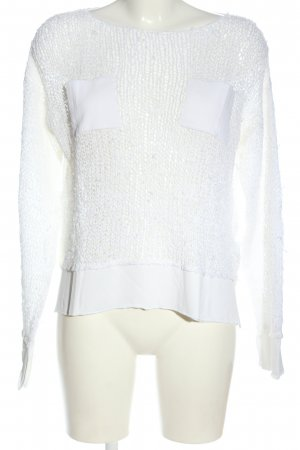 Dondup Crochet Sweater white casual look