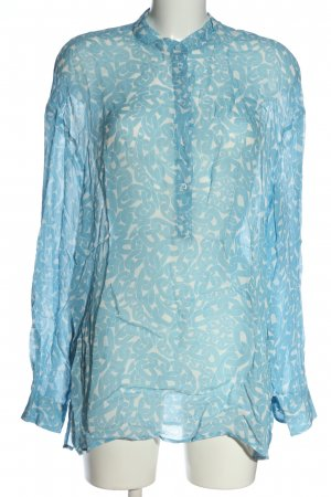 Dondup Shirt Blouse blue-white abstract pattern business style