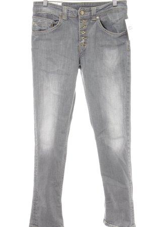 Dondup Hoge taille jeans lichtgrijs gewassen uitstraling