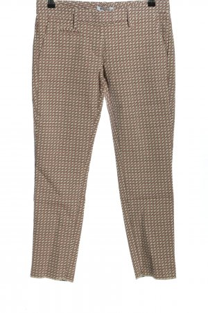 Dondup Low-Rise Trousers cream-pink abstract pattern casual look