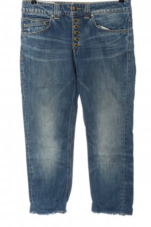 Dondup Jeans vita bassa blu stile casual