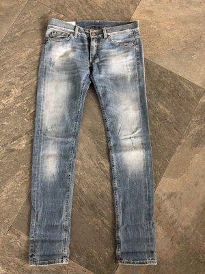 Dondup Jeansy z prostymi nogawkami błękitny Bawełna