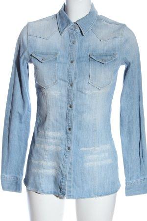 Dondup Jeansowa koszula niebieski W stylu casual