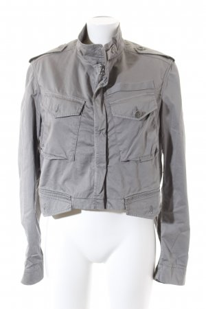 Dondup Short Jacket green grey Metal elements