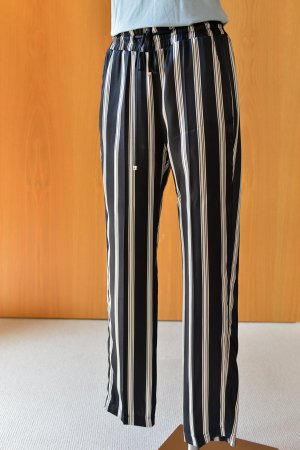Dondup Marlene Trousers white-black silk