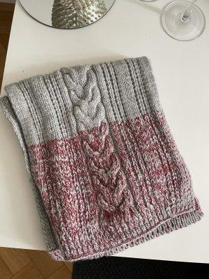 DONDUP Schal grau rot Wolle