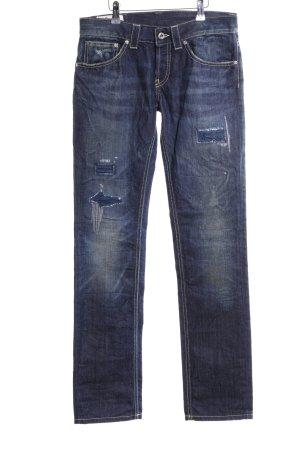 Dondup Jeans a gamba dritta blu stile casual