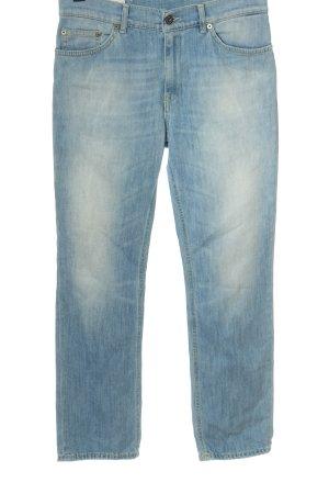 Dondup Jeansy z prostymi nogawkami niebieski W stylu casual