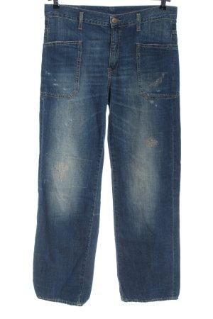 Dondup Straight-Leg Jeans blau Street-Fashion-Look