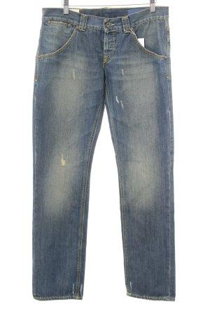 Dondup Jeansy z prostymi nogawkami stalowy niebieski W stylu casual