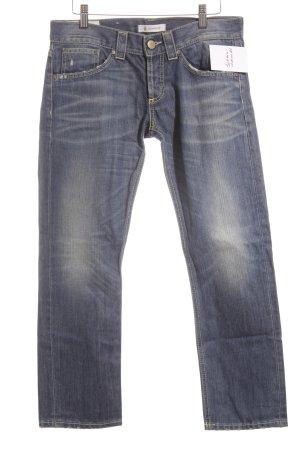 Dondup Jeansy z prostymi nogawkami biały-stalowy niebieski
