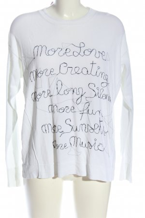 Dondup Knitted Jumper white printed lettering casual look