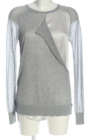 Dondup Knitted Jumper light grey flecked casual look