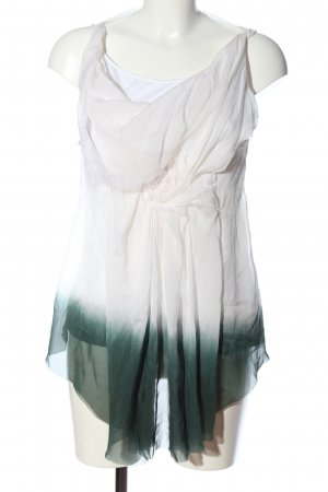 Dondup Cowl-Neck Shirt white-green color gradient casual look