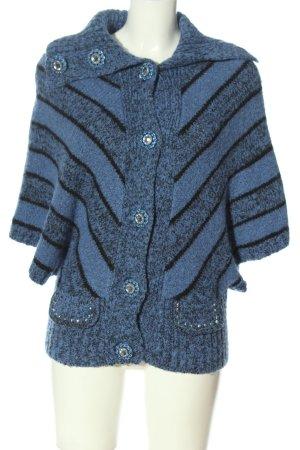 Dong Hui Giacca di lana blu-nero puntinato stile casual