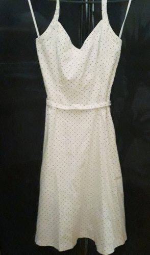 donna by Hallhuber Damenkleid Gr 38/ M weiß mit schwarzen Punkten