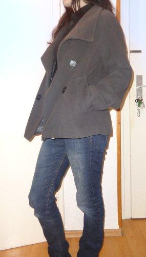 Hallhuber Donna Veste en laine gris anthracite-gris foncé tissu mixte