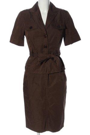 Donna by hallhuber Ensemble en tricot brun style décontracté