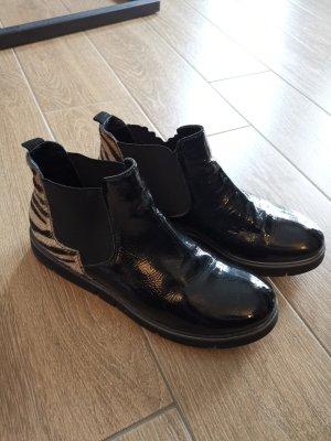 Donna Carolina Ankle Boots Lackleder