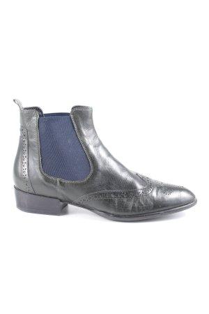 Donna Carolina Chelsea Boots schwarz-blau Casual-Look