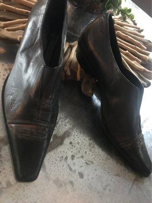 Donna Carolina Instappers taupe-grijs-bruin Leer