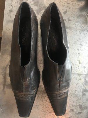 Donna Carolina Slip-on taupe-gris brun cuir