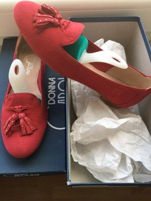 Donna Carolina Mocassins rouge-rouge foncé cuir