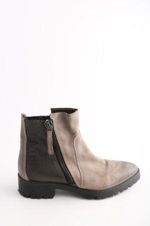 Donna Carolina Reißverschluss-Stiefeletten braun-schwarz Casual-Look