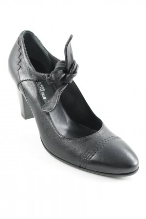 Donna Carolina Riemchenpumps schwarz klassischer Stil